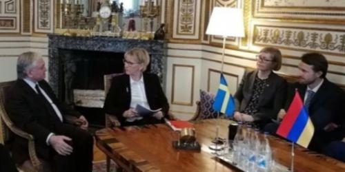 Էդվարդ Նալբանդյանը Ստոկհոլմում հանդիպել է Շվեդիայի արտգործնախարարին