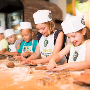 Children participate in a baking class