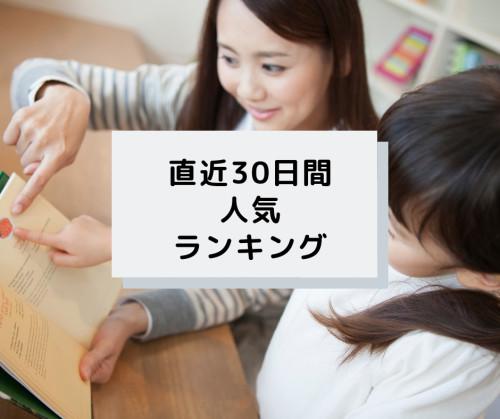 教育/受験/家庭教師の直近30日間人気ランキング