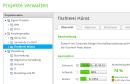 Screenshot: Projekte verwalten