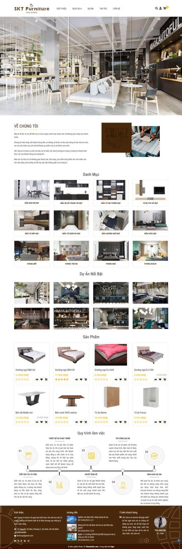 Giao diện mẫu web nội thất 2