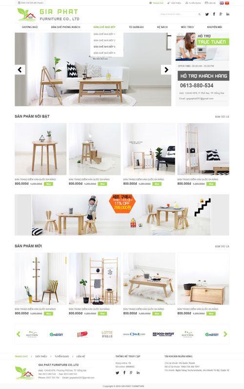 Giao diện web nội thất 4