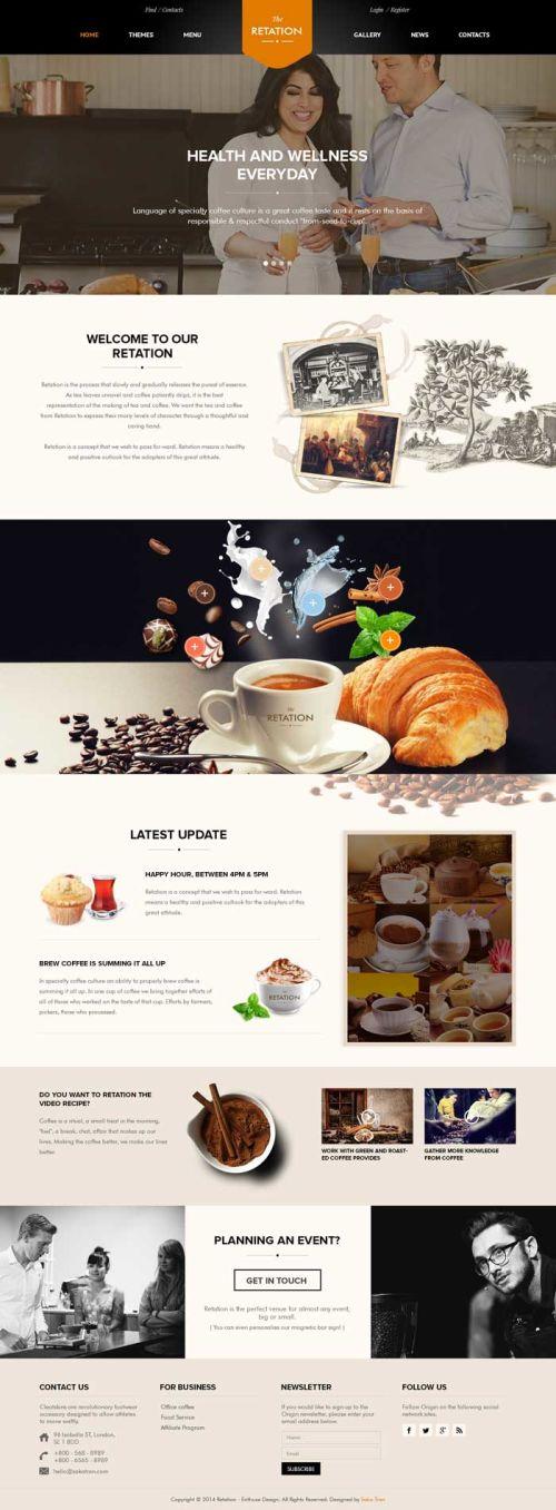 Giao diện website cafe 02