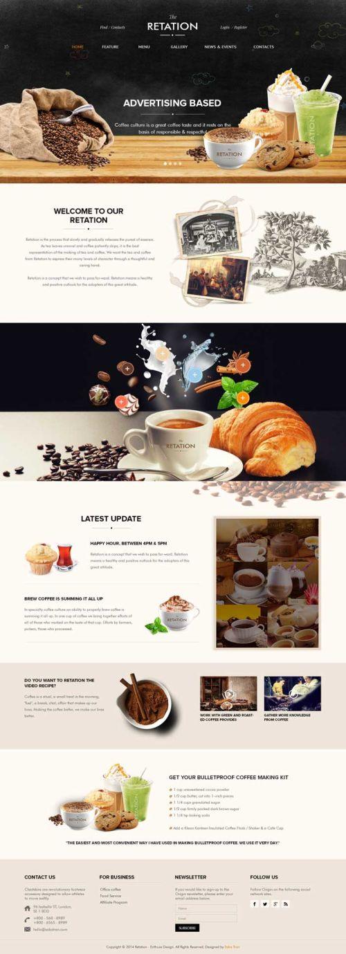 Giao diện website cafe 03