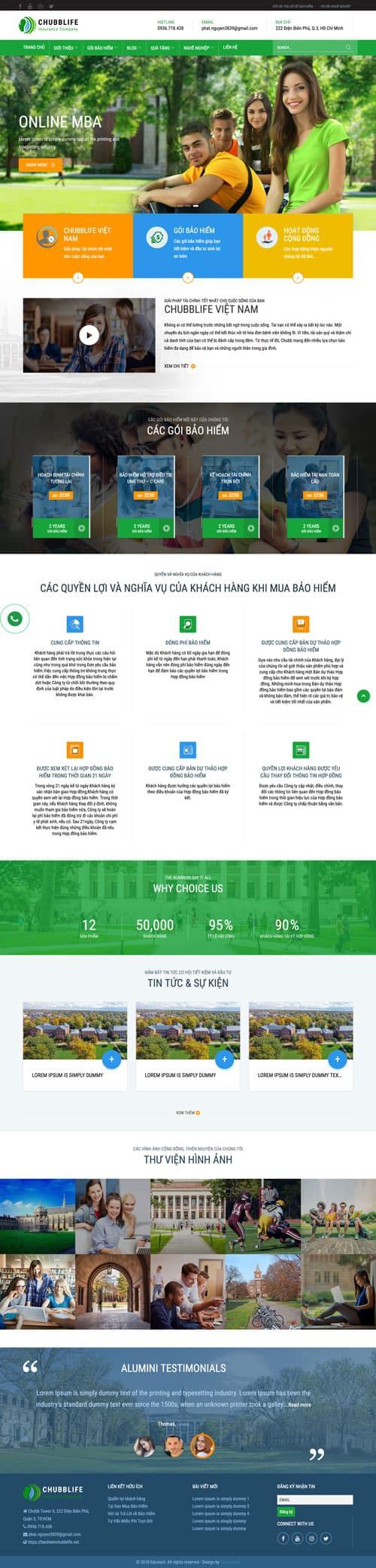 Web giới thiệu công ty 08