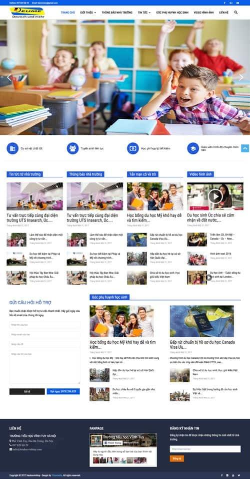 Web giới thiệu công ty 11
