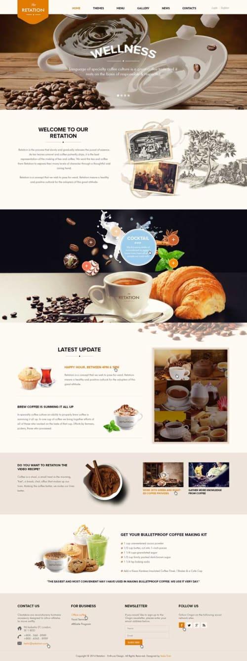 Giao diện website cafe 01