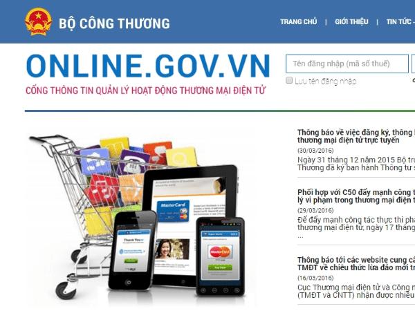 website đăng ký bộ công thương