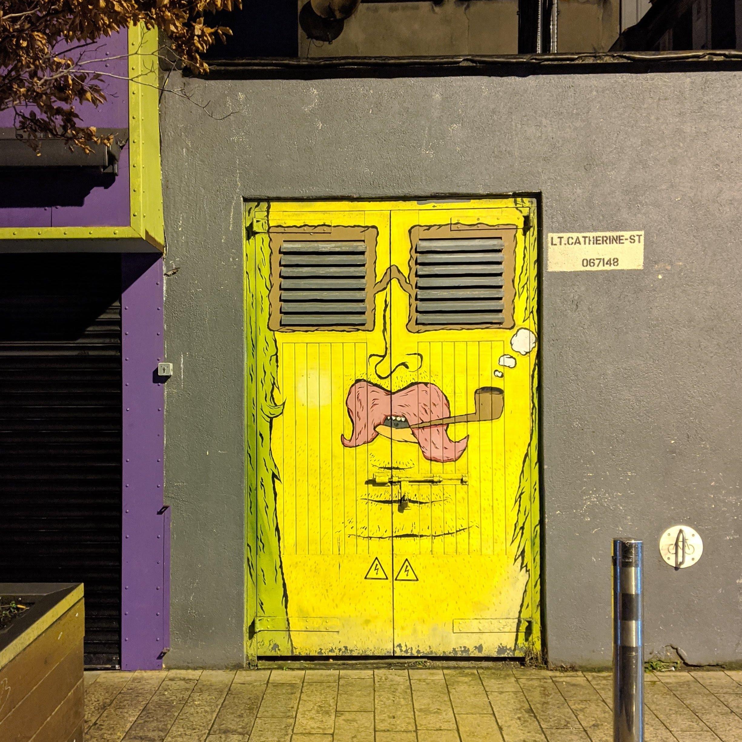 Door with pipe