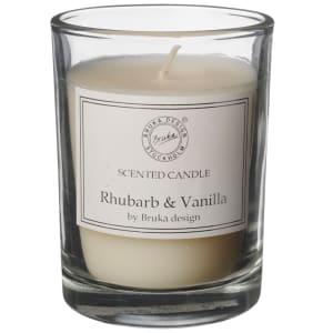 bruka design duftlys clear rhubarb/vanilla