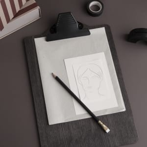 ferm LIVING clipboard A4 stained black