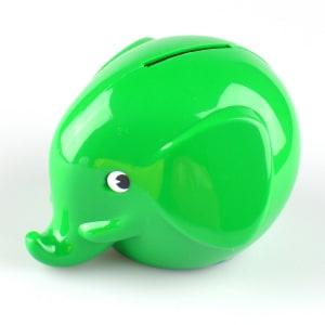 Norsu sparebøsse elefant grønn