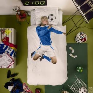 snurk sengetøy soccer blue
