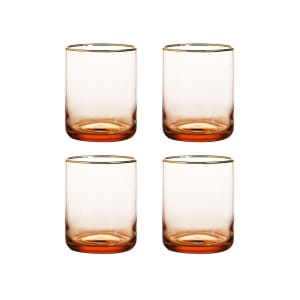 &klevering vannglass 4pk rose/gold