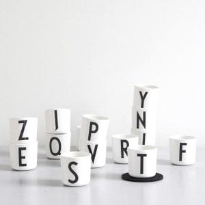 design letters kopp melamin arne jacobsen A - Z