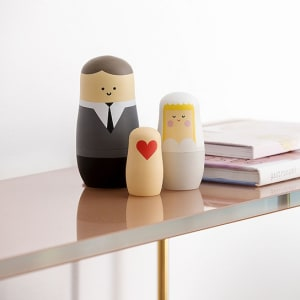 spring copenhagen nesting dolls wedding