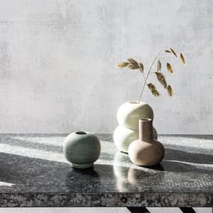 house doctor vase mini bobbles lys grå/sand