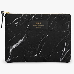 wouf pouch black marble stor