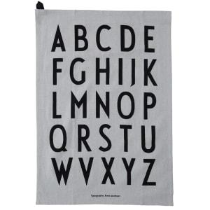Design letters kjøkkenhåndkle 2 pk grå