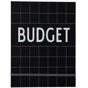 design letters notatbok budget sort
