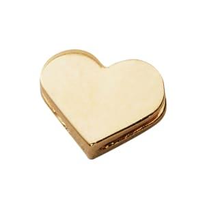 design letters charm hjerte gull