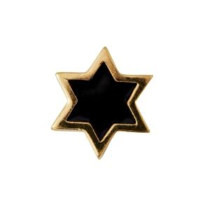 Design letters charm emalje stjerne sort/gull