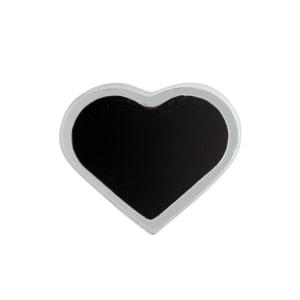 Design Letters charm emalje hjerte sort/sølv