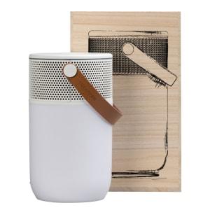 KREAFUNK aGLOW white w white Bluethooth speaker