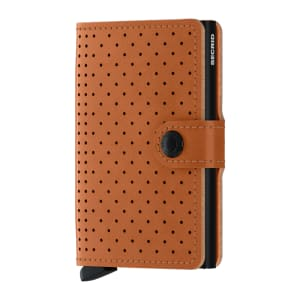 Secrid lommebok Miniwallet perforated cognac