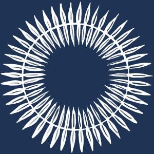 Broste Serviett Skage leaf blå