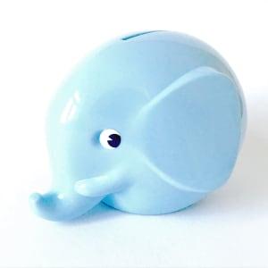 Norsu sparebøsse liten baby blå