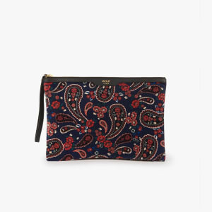 Wouf Night Clutch Blue Paisley