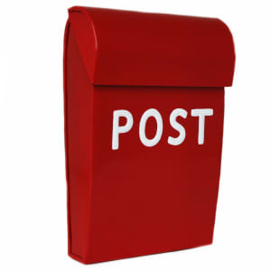 Bruka Design postkasse mini rød