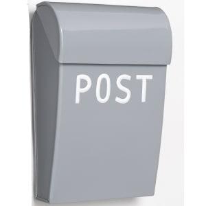 bruka design postkasse mini lys grå