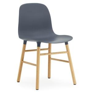 Normann copenhagen form stol blågrå/eik