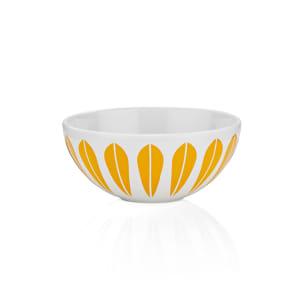 Lucie Kaas Lotus skål hvit/oransje 12cm