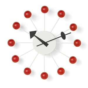 vitra ball clock red