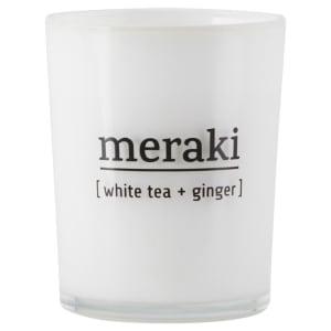 meraki duftlys hvit te & ingefær lite