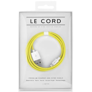 Le Cord ledning Solid yellow