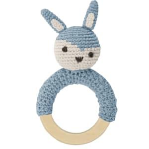 sebra rangle m/ring kanin blå
