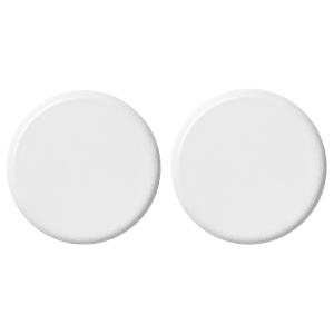 menu knobs 2pk hvit