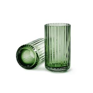 lyngby vase glass 12cm grønn