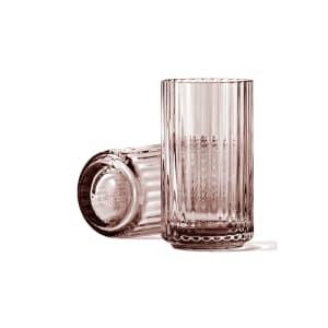 lyngby vase glass 12cm burgunder