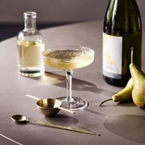 Ferm living ripple champagne glass 2pk