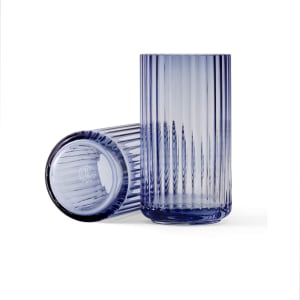 lyngby vase glass 15cm blå