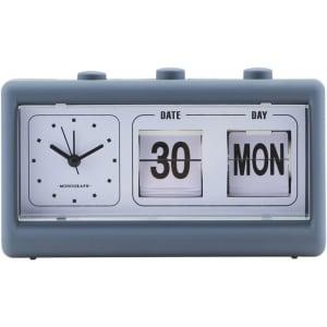 Monograph retro klokke blå