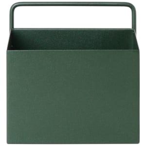 ferm living wall box liten mørk grønn