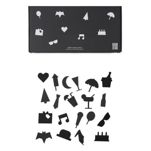 design letters icons party sort