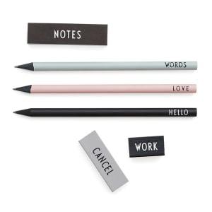 design letters blyantsett m/viskelær