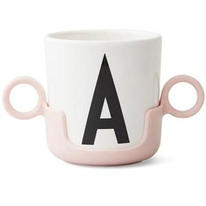 design letters håndtak til melaminkopp rosa